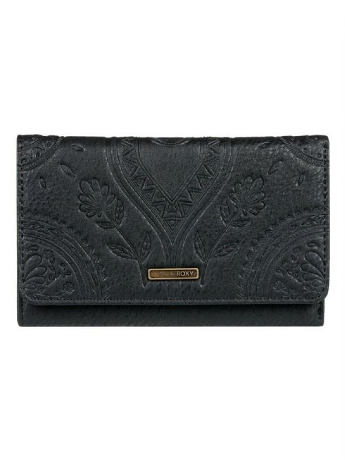 ROXY WOMENS PURSE.CRAZY DIAMOND BLACK FAUX LEATHER MONEY NOTE CARD WALLET 9W 3KV